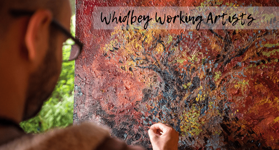 Artists, Whidbey Island, Working Whidbey Artists, Whidbey Island, Painter painting on canvas